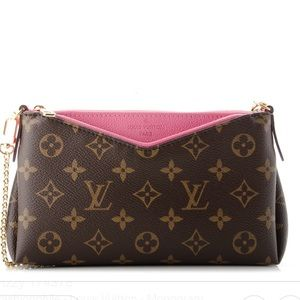 GUC Rare/Discontinued LV Rose Fizzy Pallas Clutch